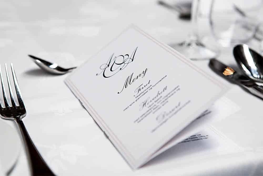 Karta menu restauracji